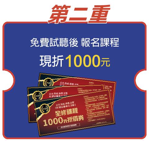 千元折價券